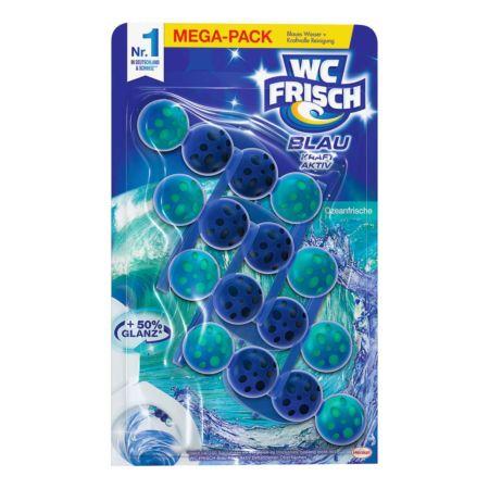 WC Frisch Einhänger Blau Kraft Aktiv Ozean-Frische 4 x 50 g