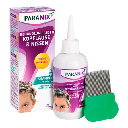Paranix Shampoo Behandlung gegen Kopfläuse und Nissen mit Kamm 200 ml