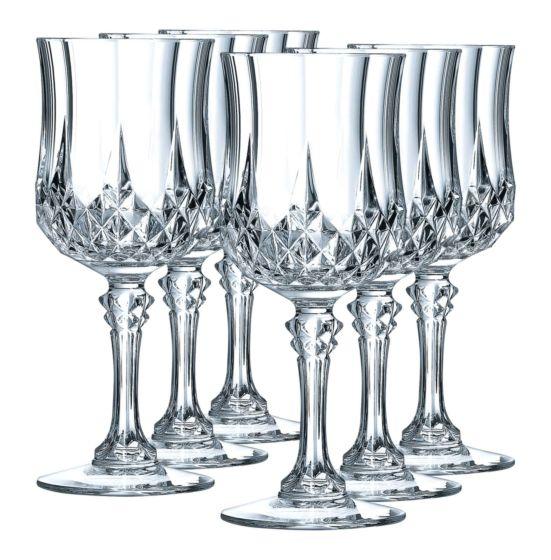 Cristal d'Arques Verre à vin blanc Longchamp 6 pièces 17cl